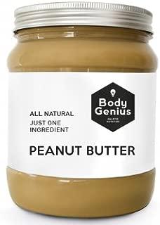 BODY GENIUS Smooth Peanut Butter. 1000g. Crema de Cacahuete