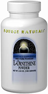 Source Naturals L-Ornithine Free Form Amino Acid Supplement for Muscle Support - 100 Capsules