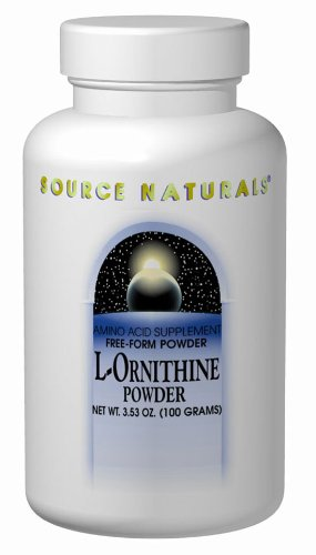 Source Naturals L-Ornithine Free Form Amino Acid Powder Supplement For Muscle Support - 100 Grams