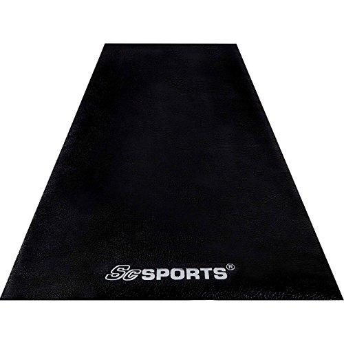 ScSPORTS Unterlegmatte, Schutzmatte für Fitnessgeräte, Laufband, Heimtrainer, Hantelbank, Sportgeräte, extra groß, schwarz, 200 x 100 x 0,4 cm
