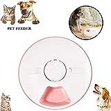 XXDYF Futterautomat Katze, Automatischer Futterspender für Katze und Hund, Pet Feeder mit Timer, LCD Bildschirm und Ton-Aufnahmefunktion,Rosa