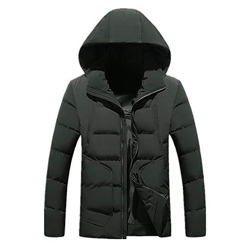 Invierno de algodón acolchado ropa de los hombres de algodón acolchado chaqueta con capucha gruesa cálida de gran tamaño abrigo