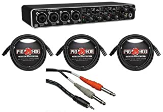 "$139 » Behringer U-PHORIA UMC404HD Audio/MIDI Interface with MIDAS Mic Preamplifiers BUNDLE with 3 Senor 20"" Microphone Cables and 1 x Pig Hog Stereo Breakout Cable"