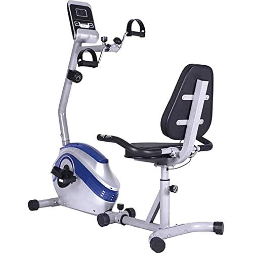 ZBQLKM Dispositivo de Entrenamiento de extremidades Superior e Inferior, Paso a Paso de Bicicleta, Pedales de acondicionamiento físico con 8 Niveles de Resistencia y 4 Modos de Entrenamiento, Mute de