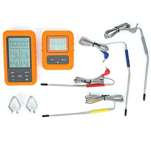Termómetro inalámbrico para alimentos TS-TP40 termómetro electrónico con pantalla digital, ahumador, barbacoa, carne, aceite de caramelo(TS-TP40-A ((Sonda impermeable))