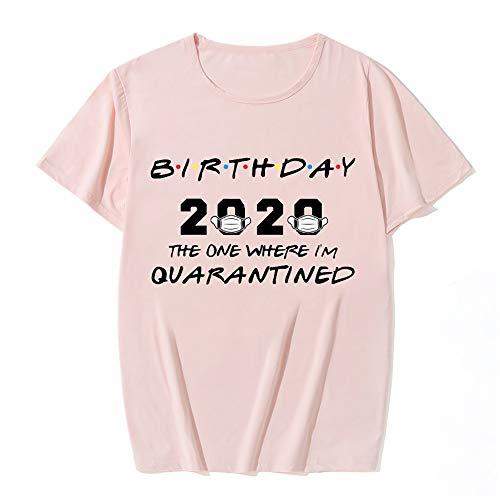 Wangjia Camisa de cuarentena, Camisa de cumpleaños 2020, Camisa de Distancia Social, Camisa de Amigos, Regalo de cumpleaños