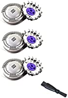 3 Pcs HQ8 Dual Precision Replacement Heads for Philip Norelco Shavers, Compatible with Philip Norelco 7310XL 7315XL...