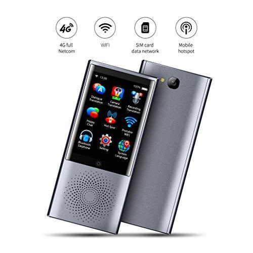 DJGLOVE Sprachübersetzer, Zwei-Wege-Echtzeitübersetzer, Smart Language Translator für 45 Sprachen SIM-Karte / 4G / WiFi/Offline / 8 GB Speicher Sofortübersetzung mit 2,8-Zoll-Touchscreen