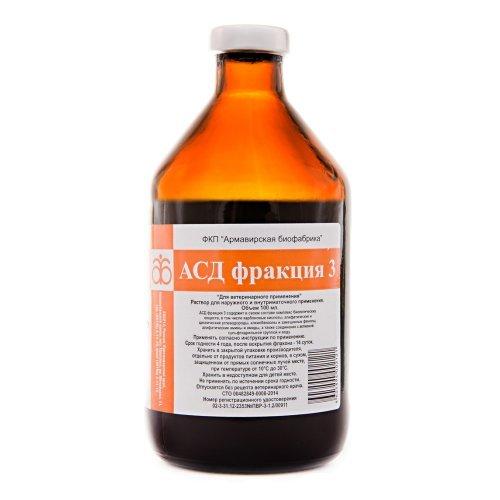 ASD-3 Bruchteil für externe Anwendung, 100 ml (A. Dorogov) (für die Behandlung von Haustieren und Tieren: Hautkrankheiten, Schuppenflechte, Gynäkologie)