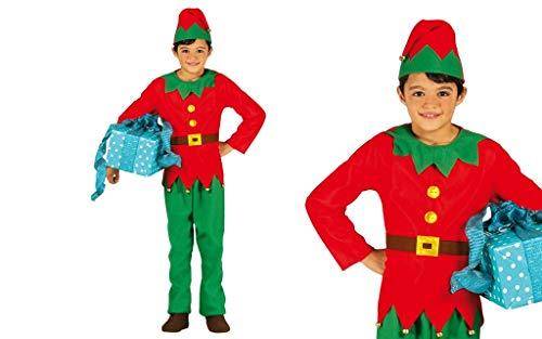 GUIRMA Costume da Elfo Bambino Bambina Folletto di Babbo Natale