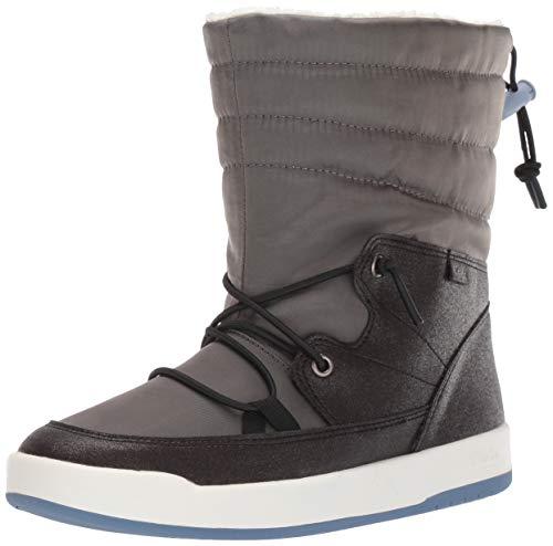 Keds Women's Tally Point Boot Nylon Thinsulate WCX Ankle, Black Metallic, 7 M US