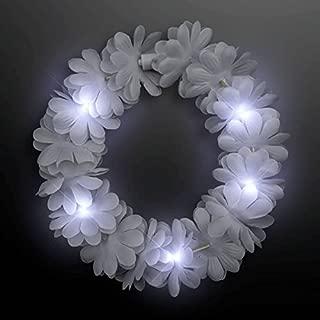 blinkee Light Up Flashing Wedding White Flower Princess Angel Halo Crown Headband by