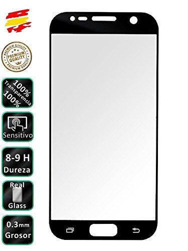 Movilrey Protector para Samsung Galaxy S7 Negro Completo 3D Cristal Templado de...