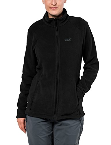 Jack Wolfskin Damen Midnight Moon Klassisch Fleecejacke, Black, XXL