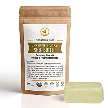 SheaGrowers Raw Unrefined African IVORY Shea Butter – Organic Moisturizing Body Lotion for Skin Care and DIY Recipes 1lb IVORY