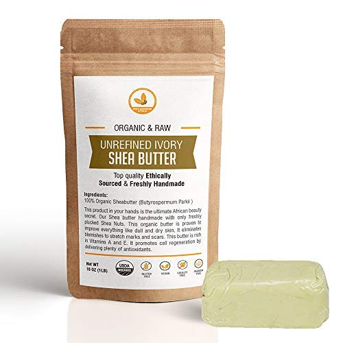 SheaGrowers Raw, Unrefined African IVORY Shea Butter