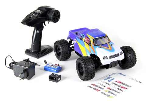 XciteRC 30502000 RC Auto Monster Truck one16 MT, 4WD Ready to Race Modellauto, 1:16 mit 2.4 GHz Fernsteuerung, blau