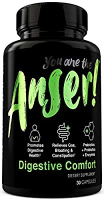 Anser Prebiotic Probiotic Supplement - 20 Billion CFU Pill for Digestive Health - with Digestive Enzyme Blend for Gas, Bloating & Constipation Relief - 30 Servings by Tia Mowry