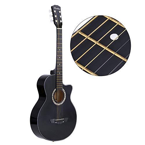 LOIKHGV 38 & quot;Akustische Folk 6-saitige Gitarre für Anfänger Studenten Geschenk, lila, 38 Zoll