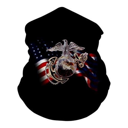 DUSH America Flag Eagle U.S.M.C Multi-Function Face Mask 3D Bandana Balaclava Headband