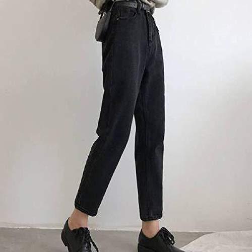 Jeans Koreanische High Waist Jeans Frauen Solid...