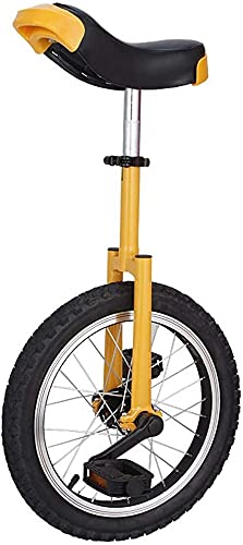 MLL Bicicleta de Equilibrio, Monociclo para Adultos, niños Grandes, con Rueda de 16'/ 18' / 20', Bicicleta Amarilla Unisex para niños y niñas para Deportes al Aire Libre