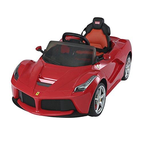 Aosom 12V Ferrari LaFerrari Kids Electric Ride On Car with MP3 and Remote Control - Red
