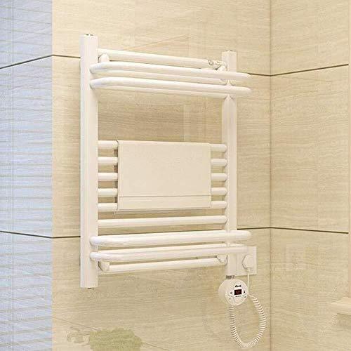 LHQ-QG Chauffe-serviettes électrique, mural for l'acier nickel brossé inoxydable salle de bains Porte-serviettes chauffant Barres Etendoir chauffants