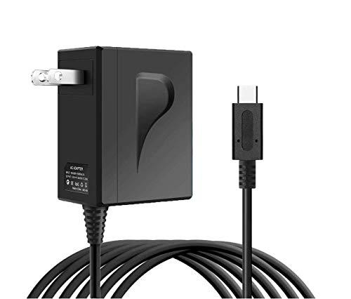 【2020最新版】任天堂スイッチ 充電器(ACアダプター)他のUSB Type-Cデバイス(スマートフォン、スイッチドック、スイッチ コントローラーなど)も対応可能 【Nintendo Switch Lite】ケーブル長1.5m コンセントでNintendo Switchを充電できるUSB Type-Cコネクタ搭載5V 1.5A/ 15V 2.6A出力のAC充電器 急速充電 ns電源アダプター直接充電 安全保護