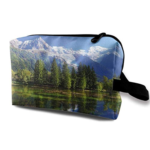 zmzm organizzatore di Borsa per Cosmetici Snowy Mountains Cosmetic Bag Makeup Bags for Women Travel Makeup Bags Roomy Toiletry Bag Accessories Organizer with Zipper