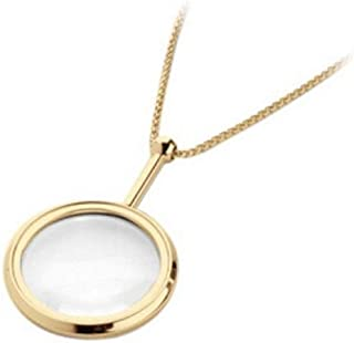 Hongyushanghang Magnifying Glass Gold Plated Send Elders. 3.5 Times Elegant Chain Necklace Style Color : Gold