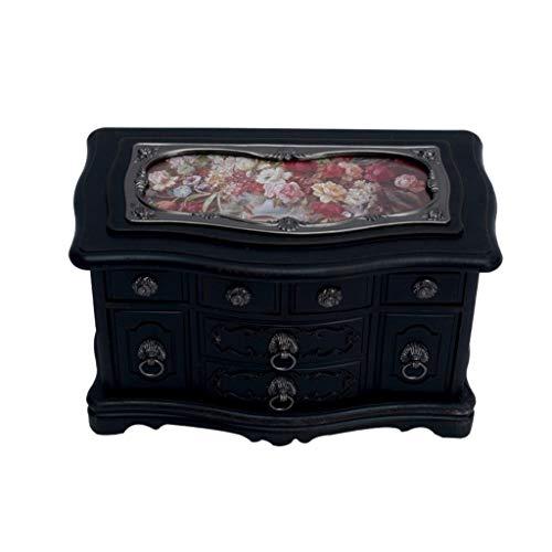 Caja de música Retro para el hogar Box antiguo de la vendimia de la música, creativo musical de la bailarina de la joyería caja, rectángulo cajas de recuerdo, Sala de decoración y regalos de cumpleaño
