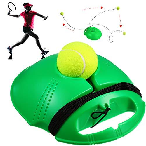Sumind Entrenador de Pelotas de Tenis Compañero de Entrenamiento de Tenis Baseboard de Entrenamiento de Tenis con Cuerda Herramienta de Pelota de Tenis de Entrenamiento de Auto Práctica
