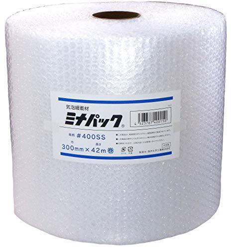 【 日本製 】 酒井化学 #400SS 300mm×42m 緩衝材 ロール ミナパック 【 高品質ポリエチレン製 エアキャップ 】 産業用 (業務用エアパック)