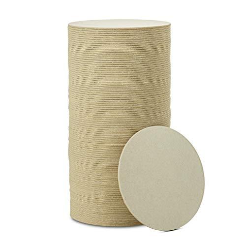 MT Products Papp-Untersetzer für Ihre Getränke, 10,2 cm, blanko, rund, 2 mm dick, 100 Stück