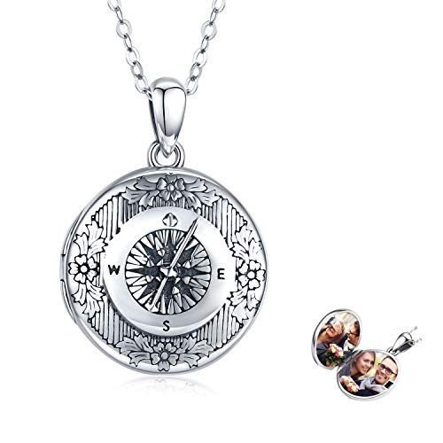 Compass Locket Necklace for Women,Butterfly/You are My...