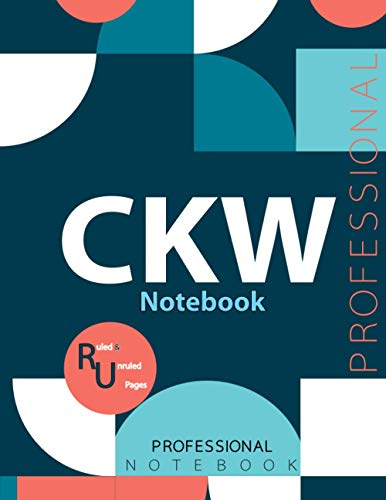"""CKW Notebook, Examination Preparation Notebook, Study writing notebook, Office writing notebook, 140 pages, 8.5"""" x 11"""", Glossy cover"""