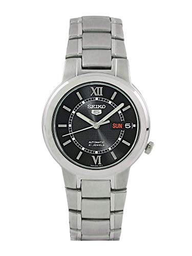 Seiko 5 Analog Black Dial Men's Stainless Steel Watch - SNKA23K1