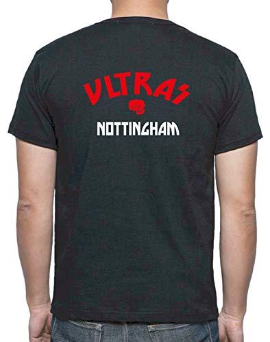 Tipolitografia Ghisleri t-Shirt Nera Retro Ultras Derby Nottingham UK Taglia M (su Richiesta Taglie XS S M L XL XXL invia Messaggio con Il Numero d'ordine) Replica - Tifosi Calcio