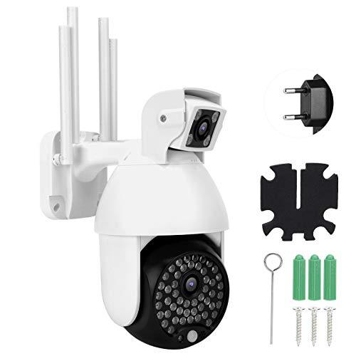 Cámara de WiFi, cámara de vigilancia de la visión Nocturna de la detección de Movimiento, para el hogar del jardín(Transl)