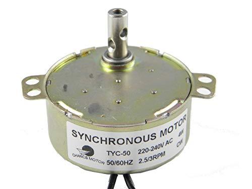 CHANCS TYC-50 AC Motor síncrono engranado 2.5-3 RPM 4W CW de un Proveedor de Motor eléctrico