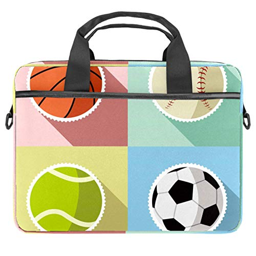 Laptop Bag Laptop Shoulder Messenger Bag Case Sleeve Shockproof for 13'~14.5' Laptop Sport Ball Basketball Basketball