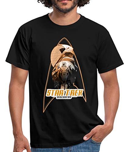 Spreadshirt Star Trek Discovery Raumanzug Titelsequenz Männer T-Shirt, M, Schwarz