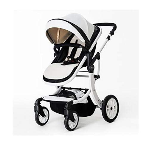 Buy ZHAGNFL Baby Stroller 2 in 1 High Landscape Multifunctionc Can Sit Or Lie Folding Four Seasons (...