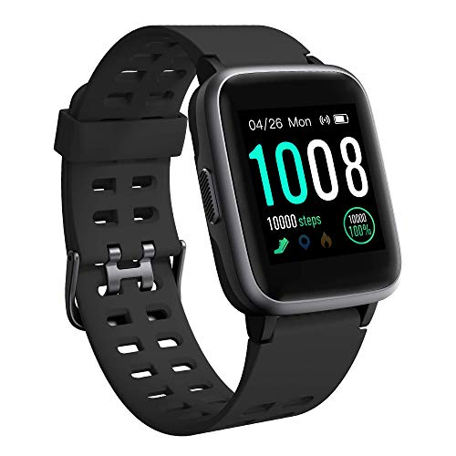 GRDE Smart Watch, Fitness Tracker Watch Activity Tracker Full Touch Screen Smartwatch 5ATM Waterproof with Heart Rate, Sleep Monitor, Step Counter Compatible with iPhone Sumsung for Man and Woman