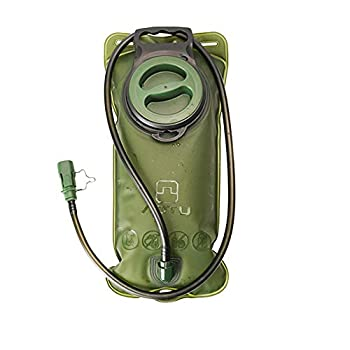 Etechydra Hydratation 2L Réservoir d'eau, Pliable Eau Bidon Bouteille d'eau Vessie pour Utilisation en Extérieur Sac d'hydratation Poche Hydratation Portable, Poche hydratation Vert