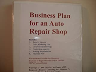 Business Plan for an Auto Repair Shop (Professional Fill-in-the-Blank Business Plans by specific type of business with editable CD-ROM, Volume 1 - Auto Repair Shop Business Plan)