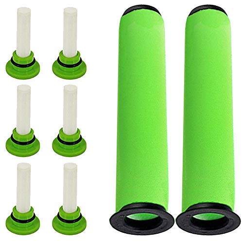 6X Scented Cartridge Freshener Tabs + 2X Filters for GTECH AirRam MK2 K9 Vacuum Cleaner