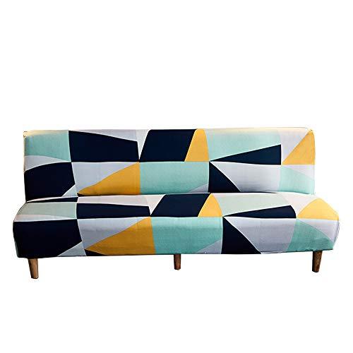 C N Funda para sofá Cama Fundas sofá sin Brazos Funda para futón elástica Funda para sofá sin Brazos elástica