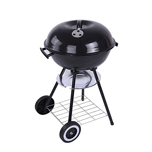 Affordable WPCBAA Charcoal BBQ Grill 17 inch Grills with Steels Cooking Grate Home Garden Barbecue T...